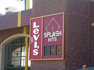 "2000 San Francisco Giants season - The ""Splash Hit"" counter on the right field wall"