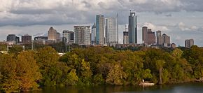 Vedere panoramică spre City of Austin