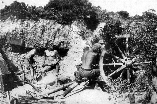 Australian gunners at Anzac