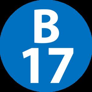 Kannai Station - Image: B 17 station number