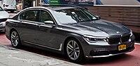 BMW 750i (G12) – Frontansicht, 1. Oktober 2016, New York.jpg