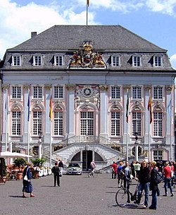 Historic Town Hall of Bonn (view from the market square).