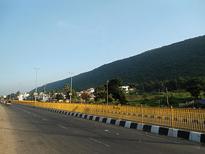 Visakhapatnam Bus Rapid Transit System - BRTS road at Arilova comes  under simhachalam transist corridor