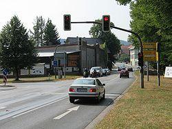 B 451 crossing from the B 80 in Witzenhausen.jpg
