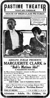 <i>Babs Matinee Idol</i> 1917 film by J. Searle Dawley