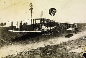 Canadian Aerodrome Baddeck No. 1 and No. 2 - Baddeck No. 1 with two crew members