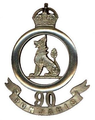 90th Punjabis - Image: Badge of 90th Punjabis (1903 22)