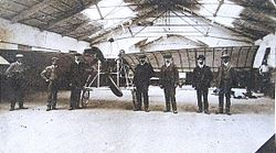 Andrew Blain Baird and Aviation Team circa 1910.