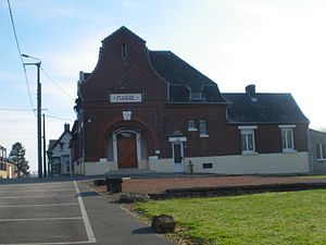 Bancourt - The town hall of Bancourt