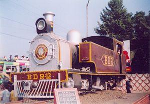 McLeod's Light Railways - Narrow gauge loco plinthed at Bankura railway station.