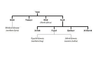 Banu 'Amir - A genealogy of the tribes branching from Banu 'Amir ibn Sa'sa'ah.
