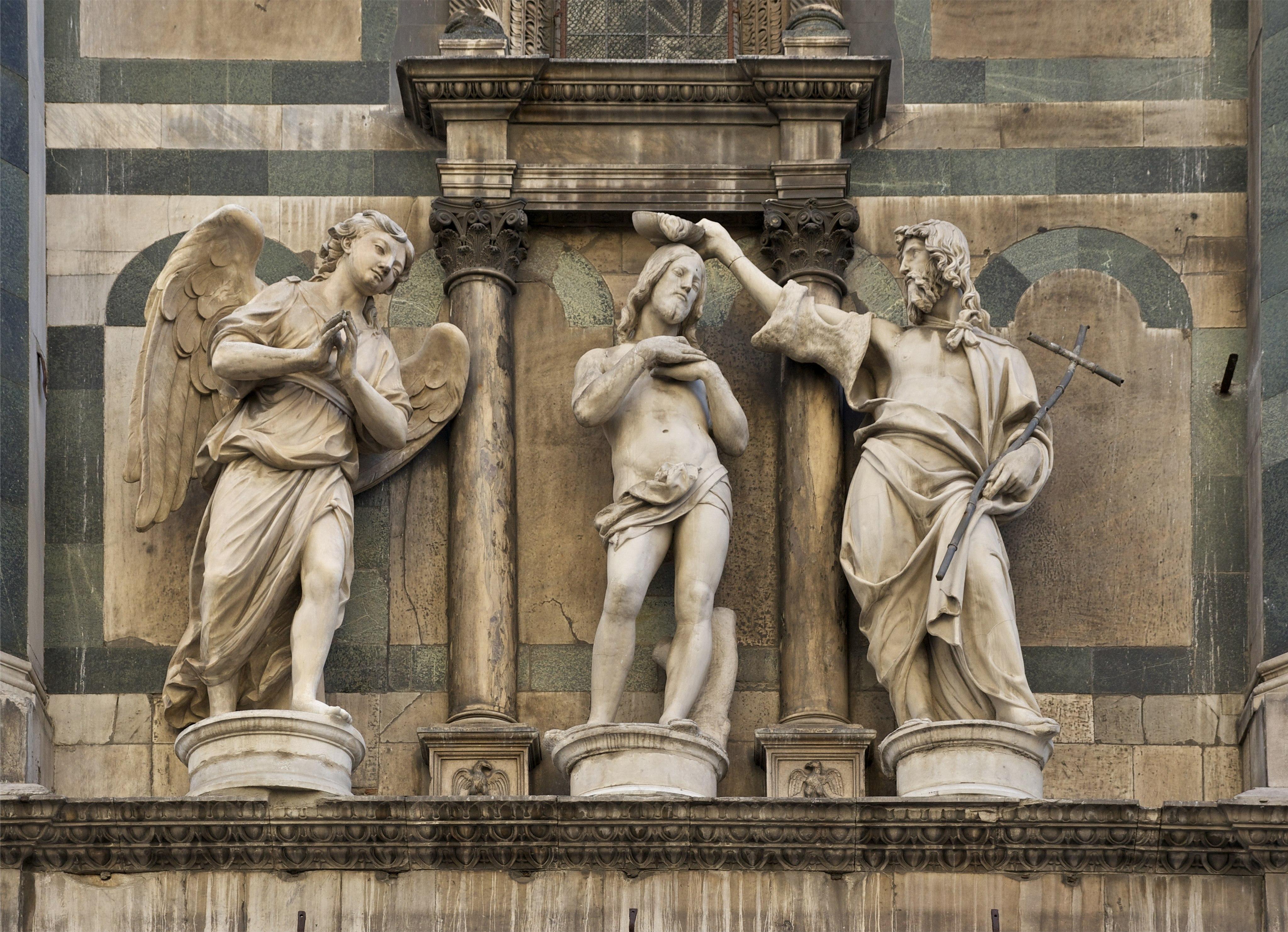 Baptism of Christ Baptistery Florence copy
