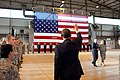Barack Obama waves goodbye to military personnel at Ramstein Airbase.jpg