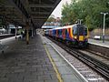 Barnes station eastbound fast look west with unit 450554.JPG