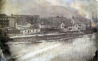 Fort Dearborn - Fort Dearborn in 1856