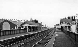 Barrhead railway station - Barrhead station in 1970