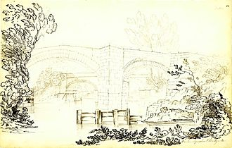 James Brindley - The Barton Aqueduct over the River Irwell, 1807