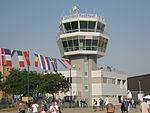 Batajnica Air Base control tower during Batajnica Airshow, 2012.jpg