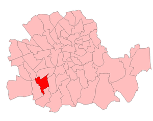 Battersea South (UK Parliament constituency) - Battersea South in London 1918-49
