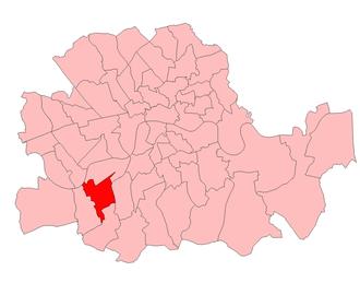 Battersea South (UK Parliament constituency) - Battersea South in London 1918-49