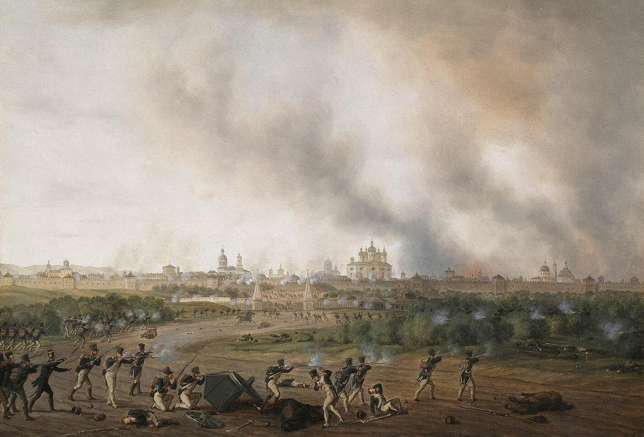 Смоленская битва 18 августа 1812 года.