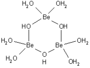 Metal ions in aqueous solution - trimeric hydrolysis product of beryllium