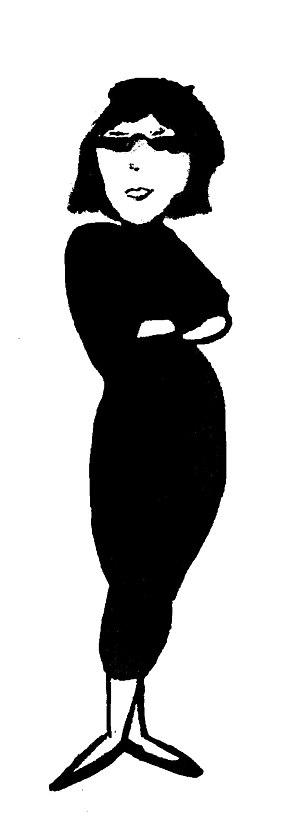 Beatnik - Stereotypical beatnik woman.