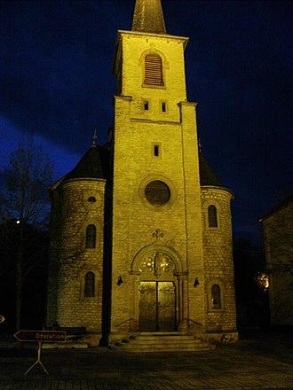 Bech-Kleinmacher - Church in Bech-Kleinmacher at night
