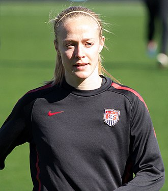 Becky Sauerbrunn - Sauerbrunn with the United States national team prior to an international friendly against New Zealand in Frisco, Texas in February 2012