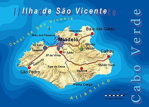 São Vicente, Cape Verde - Image: Bela vista net Sao Vicente map
