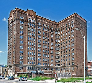 Belcrest Apartments (Detroit, Michigan) - Image: Belcrest Apartments Detroit 2010