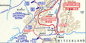 1st Army Corps (France) - The Belfort Gap forced and the formation of the Colmar Pocket, November - December, 1944.
