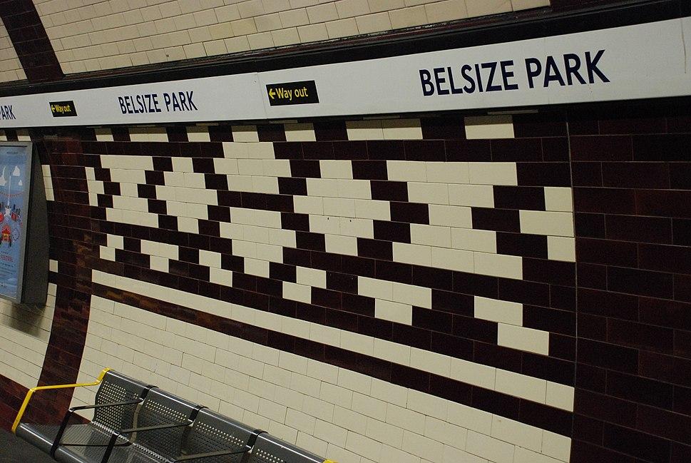 Belsize Park Station. Platform Tile Design