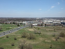Downtown Beltsville viewed from the top floor of the National Agricultural Library