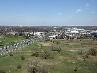 Beltsville, Maryland - Downtown Beltsville viewed from the top floor of the National Agricultural Library