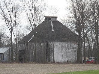 National Register of Historic Places listings in Adams County, Indiana - Image: Ben Colter Polygonal Barn