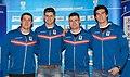 Benjamin Maier Angel Somov Stefan Withalm Sebastian Heufler - Team Austria Winter Olympics 2014.jpg