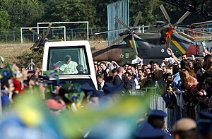 Campo de Marte Airport - Pope Benedict XVI during a mass celebrated on May 11, 2007 at the airport