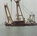 Berging kruiplijn Coaster Susanne in de Westerschelde door de firma Smit tak ID52532.jpg