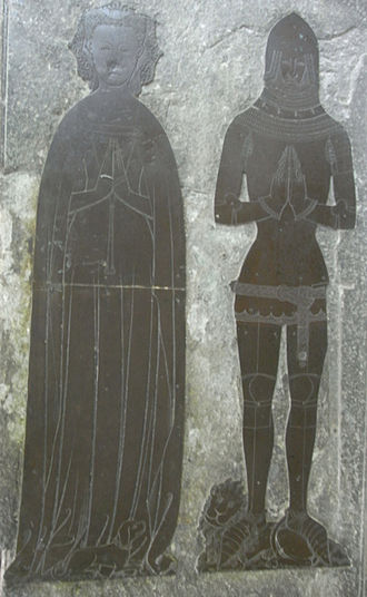 William Dalison (died 1546) - Image: Berkeley Brass Cropped
