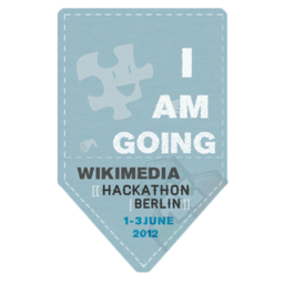 Berlin Hackathon badge Going (Blue)