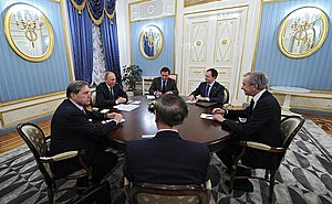 Bernard Arnault - Bernard Arnault in meeting with Vladimir Putin, 24 November 2016