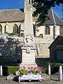 Berthenonville (27), monument aux morts, place du village 02.jpg