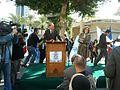 Bertrand Delanoë in The inauguration ceremony renovation Paris Square in Haifa.jpg