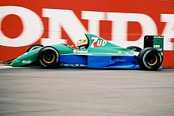 Bertrand Gachot podczas Grand Prix USA 1991.