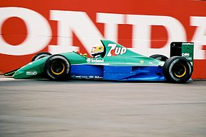 Jordan Grand Prix - Bertrand Gachot giving Jordan its F1 début at the 1991 United States Grand Prix.