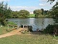 Bexley, fishing berth on Danson Park lake - geograph.org.uk - 972244.jpg