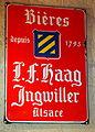 Bières L.F. Haag Ingwiller, Alsace - enamel advertising sign.JPG