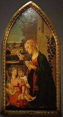 La Vierge adorant l'Enfant avec deux anges