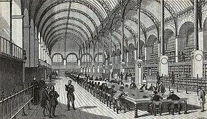 Edward Edwards (librarian) - Bibliothèque Sainte-Geneviève from Edwards' Memoirs of Libraries